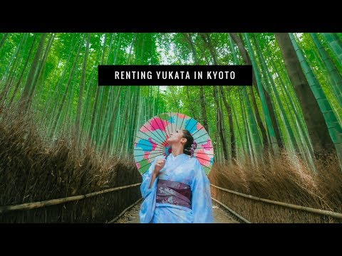 Renting Kimono in Kyoto, Japan (or Yukata) || Arashiyama Bamboo Forest || TRAVEL VLOG