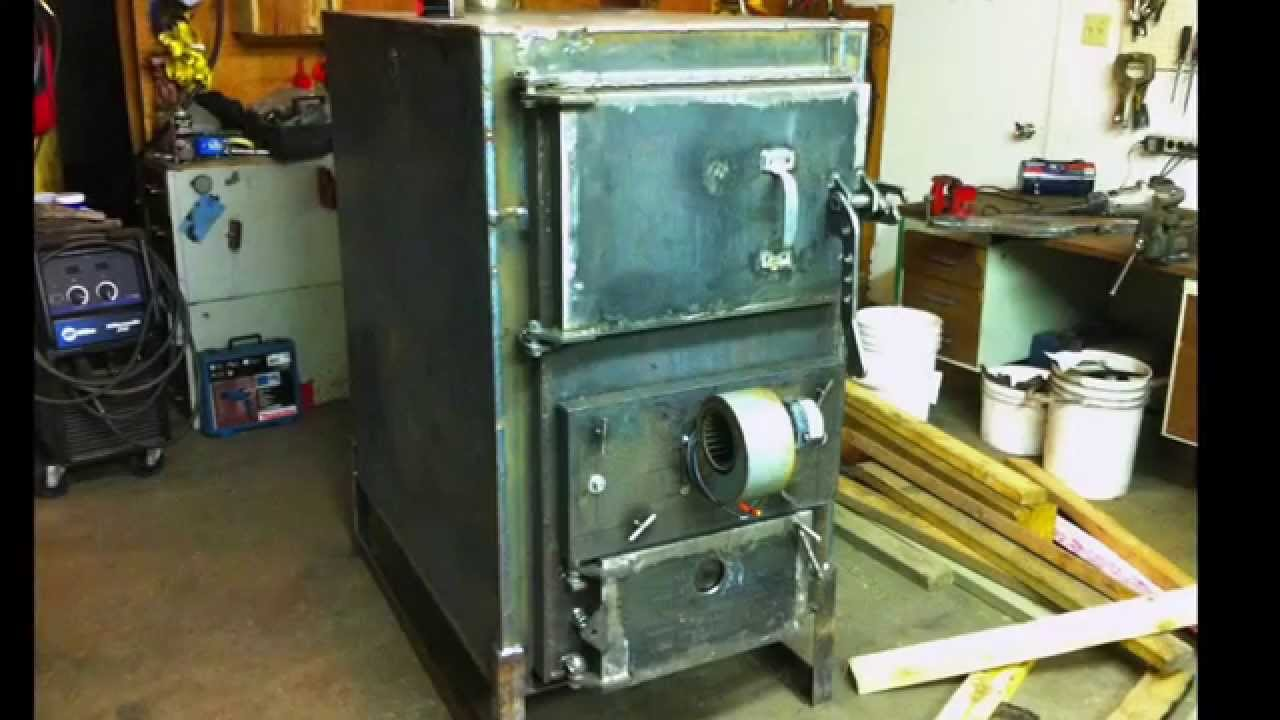 Home Built Wood Gasification Boiler Project - YouTube
