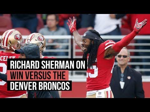 Richard Sherman on 49ers NFL Week 17 win versus the Broncos