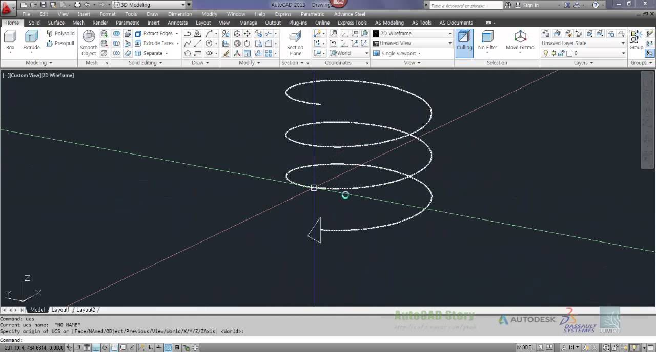 Autodesk Autocad 3d Solid Ex 나사그리기 Youtube
