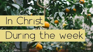 In Christ During the Week # 5