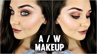 My Everyday Autumn Makeup Tutorial ♡ Copper Eyeshadow & Brown Lipstick | KatesBeautyStation