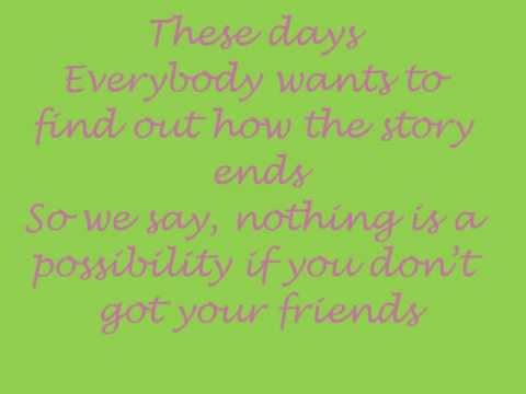 Hedley - Friends [Lyrics]