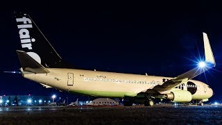 DELIVERY FLIGHT - Flair Airlines (New Livery) 737-800 Arrival at Calgary Airport