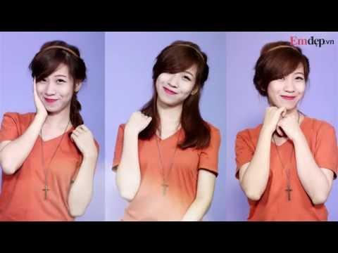 3 kiểu tóc tết đẹp với băng đô