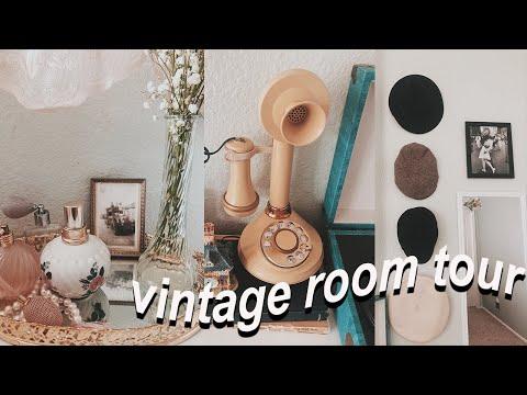 antique & eclectic vintage room tour! // antique collection & room decor ideas/inspiration