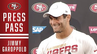 Jimmy Garoppolo Previews Rams Matchup | 49ers