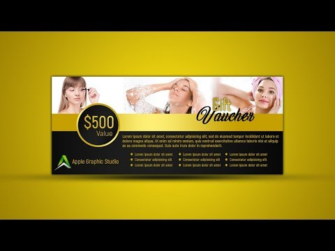 How to Design a Gift Voucher - Photoshop Tutorial