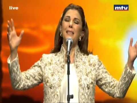 Majeda Roumi at the opening of Beiteddine Festival Courtesy of MTV Lebanon