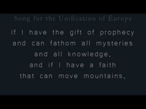 [Zbigniew Preisner] translation: Song for the Unification of Europe (Patrice's version)