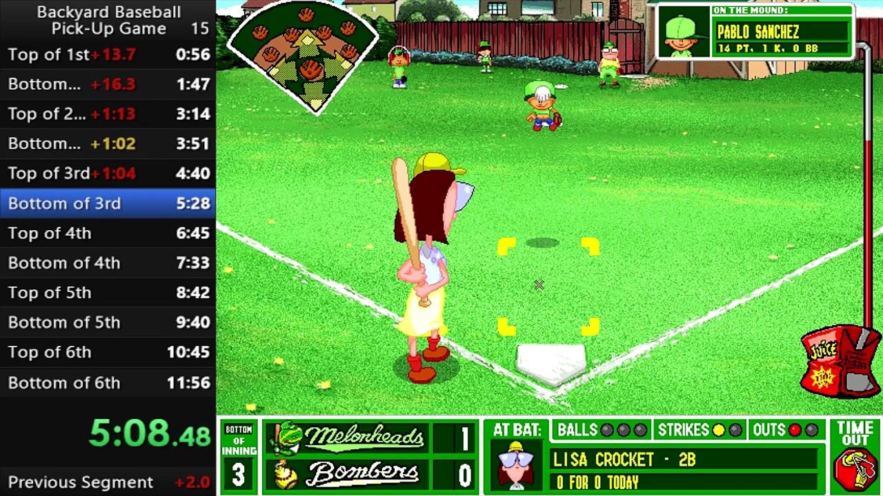 Backyard Baseball - Pick Up Game - 11:45 - YouTube