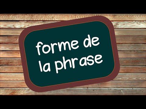 La forme de la phrase (affirmative ou négative)