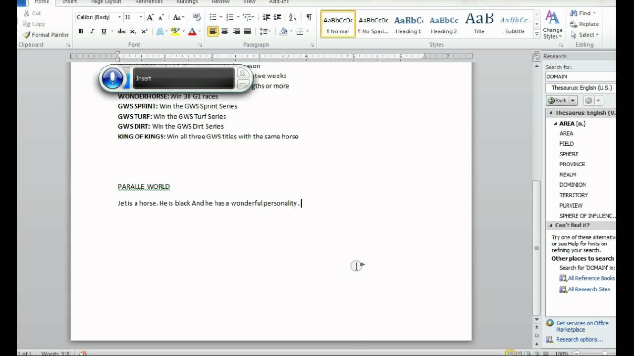 Speech Recognition to Text- Windows 7- Computer Writes what you Say