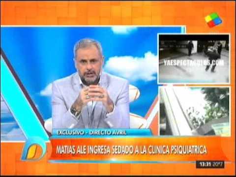 Momento dramático: Así ingresaba Matías Alé a la clínica psiquiátrica
