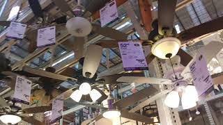 Ceiling Fans At The Home Depot (Different Home Depot, 6/20/2019)