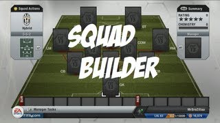 Fifa 13 Ultimate Team Squad Builder Serie A/Ligue 1/BPL Hybrid