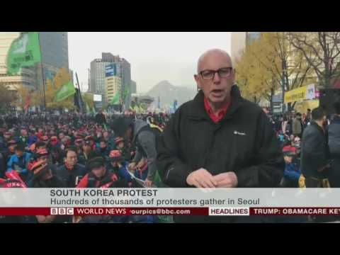 BBC World News - South Korea protests