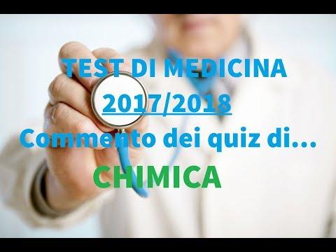 Test di Medicina 2017/2018: Commento dei quiz di CHIMICA