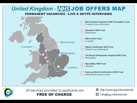 UK NHS - Job Offer Map December 2018