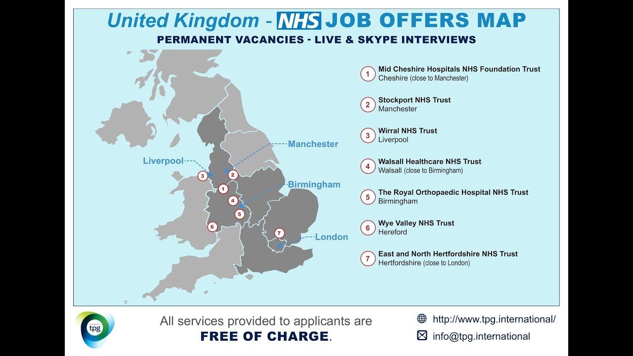 Map Of Uk Hospitals.Uk Nhs Job Offer Map December 2018