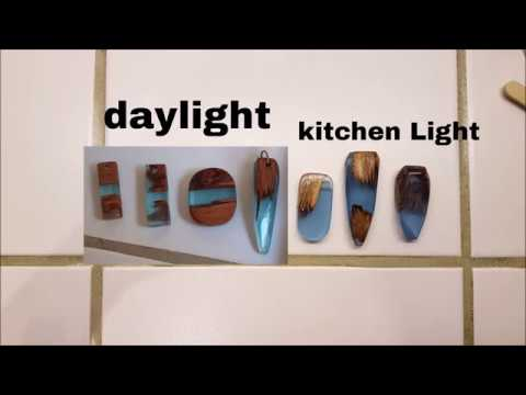 how to make resin wood pendants jewelry ( grinding, shaping, wetsanding) diy