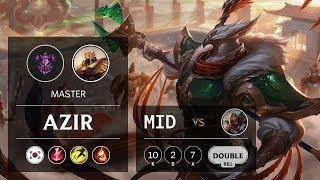 Azir Mid vs Zed - KR Master Patch 9.11
