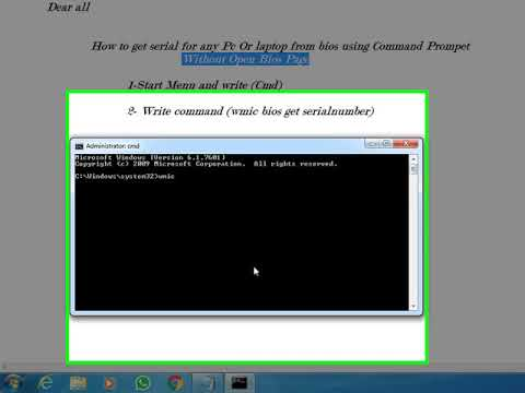 Pc serial number via cmd | How to Find Your Windows PC's