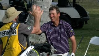 Jim Herman's walk off eagle at Sony Open