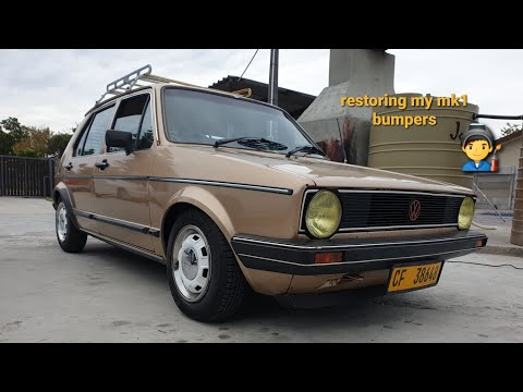 how to restore a golf mk1 black bumper