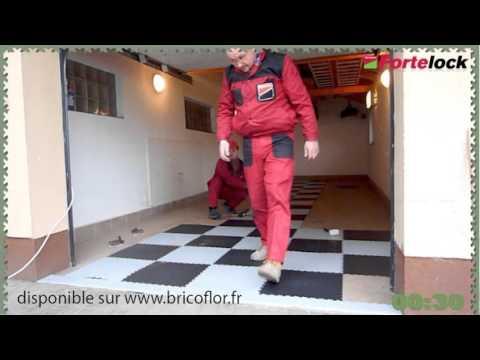 Dalle PVC pour garage et atelier Fortemix Fortelock : Une pose rapide