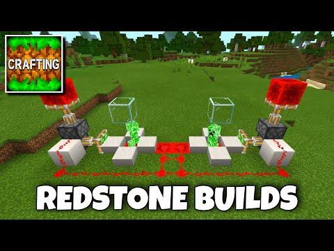Crafting and Building: 3 Simple Redstone Builds Ideas #1