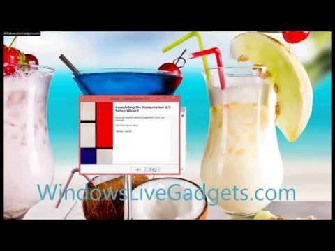 Enable Desktop Gadgets on Windows 10