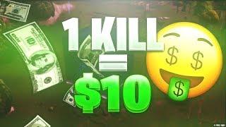 1 KILL = $10 DOLLARS CHALLENGE!! ~ HIGH KILL GAME! ~ CRAZY NO HEALTH ENDING!