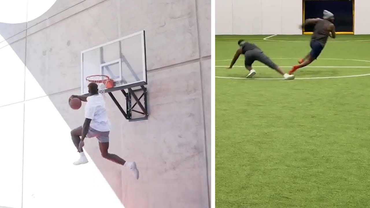 DK Metcalf CRAZY Michael Jordan Dunk,  Dez Bryant JUKES Defender Something Serious & Shows Off Drip!