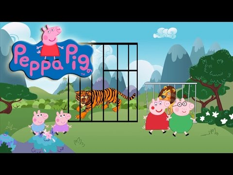 Thumbnail: Peppa pig family let's go to zoo - Spiderman Peppa Saves Peppa Pig From Tiger