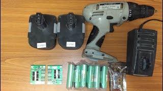 Самая дешевая переделка шуруповерта с Ni Cd на Li Ion аккумуляторы