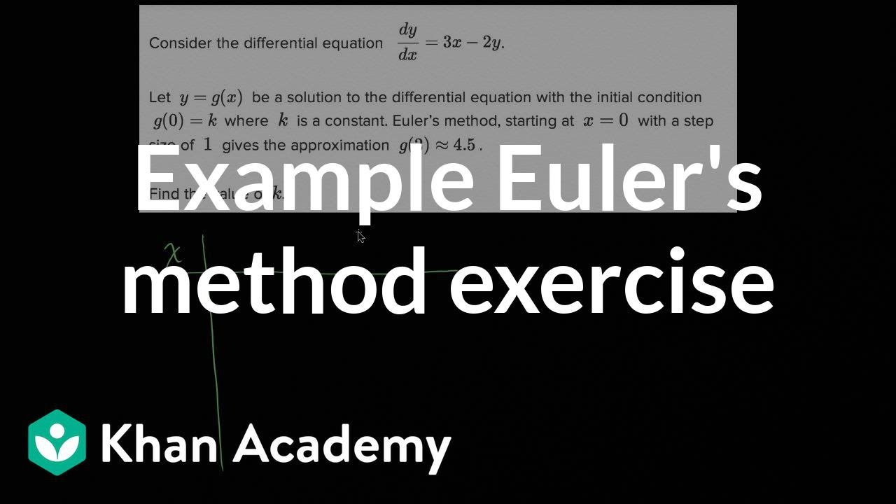 Worked example: Euler's method | Differential equations