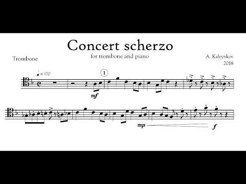 Concert scherzo for trombone and piano