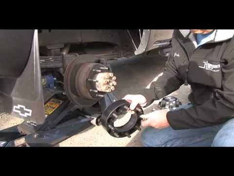 Wheel Spacers For Trucks >> how to install Wheel Spacers SuperSteer SS98 rear Ford, GM ...