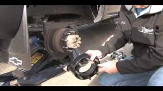 how to install Wheel Spacers SuperSteer SS98 rear Ford, GM, Dodge truck cornering vans