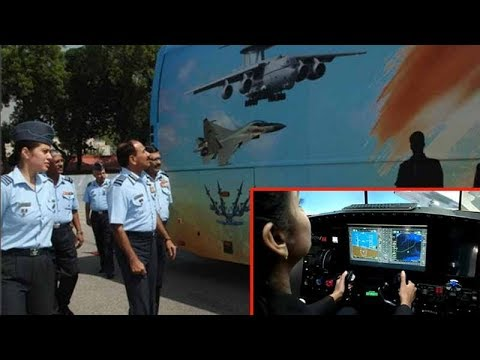 Noida: Air Force exhibits its publicity vehicle to attract youth