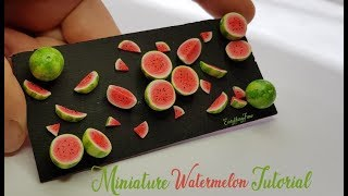 Polymer Clay Watermelon Tutorial