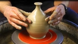 Throwing / Making An Enclosed Form Pottery Bird Feeder On The Wheel