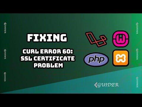 How to solve curl error 60: SSL certificate problem