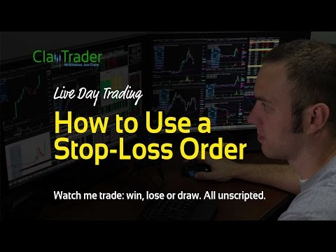 Live Day Trading - How to Use a Stop-Loss Order
