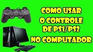 Como usar o controle de PS1/PS2 no computador