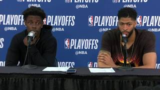 Anthony Davis and Jrue Holiday Postgame Interview | Warriors vs Pelicans Game 3
