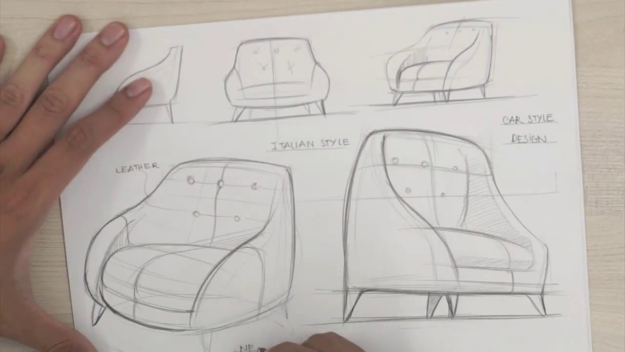 Industrial design sketches furniture - Industrial Product Design Sketching