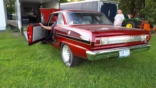1965 Chevy Nova warm up