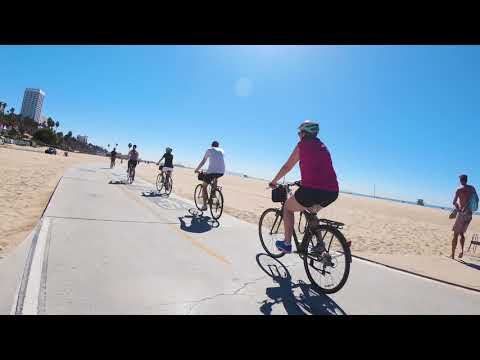 Santa Monica and Venice Beach Bike Adventure - Video